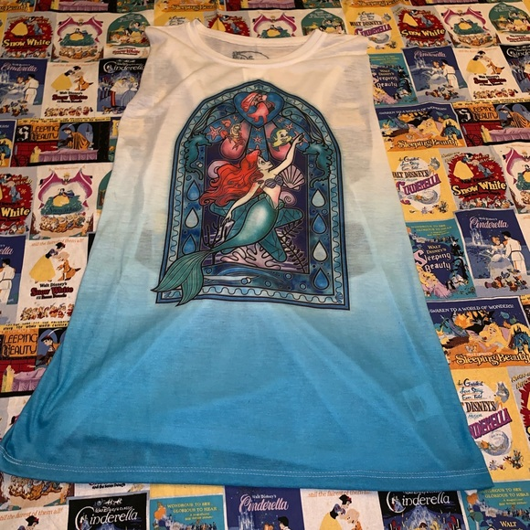 Disney Tops - NWT Hot Topic Little Mermaid Stained Glass Tank